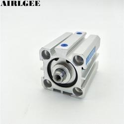 Cylindre pneumatique Double Action   Alésage 30mm, course 30mm, Mini cylindre à Air fin Compact SDA25x30, nouveau livraison gratuite