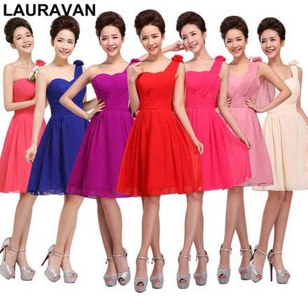 Hot Pink and Yellow Bridesmaid Dresses