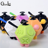 GonLeI NEW FIDGET CUBE 2 FUN ANTI STRESS TOYS RELIEVER GIFTS 12 SIDED MAGIC CUBE FOR