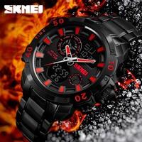 SKMEI Top Brand Luxury Mens Watches Mens Quartz Analog Watch Fashion Sport Wristwatch Waterproof Clock Men