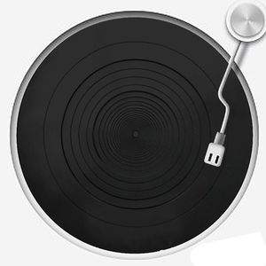 Image 1 - Anti vibration Audiophile Silicone Pad Anti static Rubber LP Antislip Mat for Phonograph Turntable Vinyl Record Players Accessor