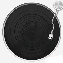 Anti vibration Audiophile Silikon Pad Anti statische Gummi LP Antislip Matte für Phonographen Plattenspieler Schallplatte Spieler Zugriffs
