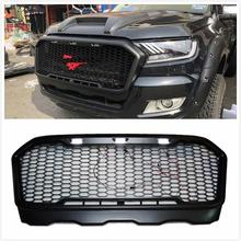 цена на AUTO ACCESSORIES FRONT RACING GRILLE MODIFIED FRONT BUMPERS MASK LED LIGHT GRILL GRILLS FIT FOR RANGER T7 2015-2018 PICKUP PARTS