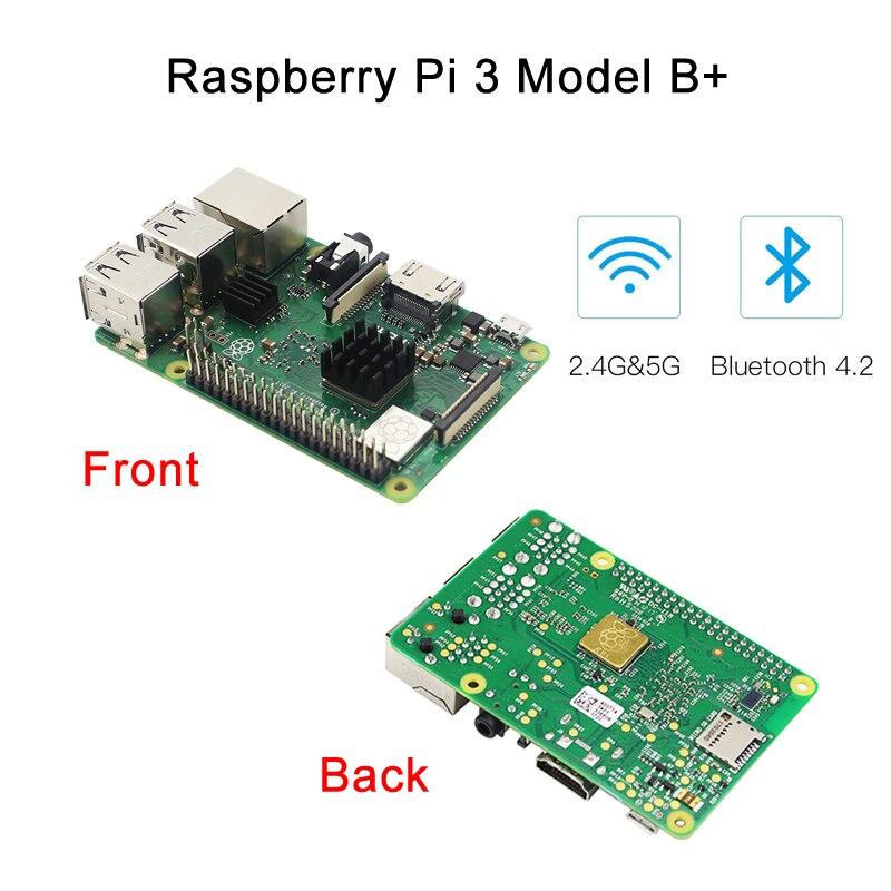 Raspberry Pi 3 modèle B + (B Plus) kit de jeu + puissance + carte SD 32G + câble HDMI + dissipateur de chaleur + dernier boîtier NESPi + pour Retropie Pi 3B + kit - 6