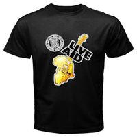 Neue LIVE AID 1985 Logo Rock Konzert männer Schwarz T-Shirt Größe S bis 3XL