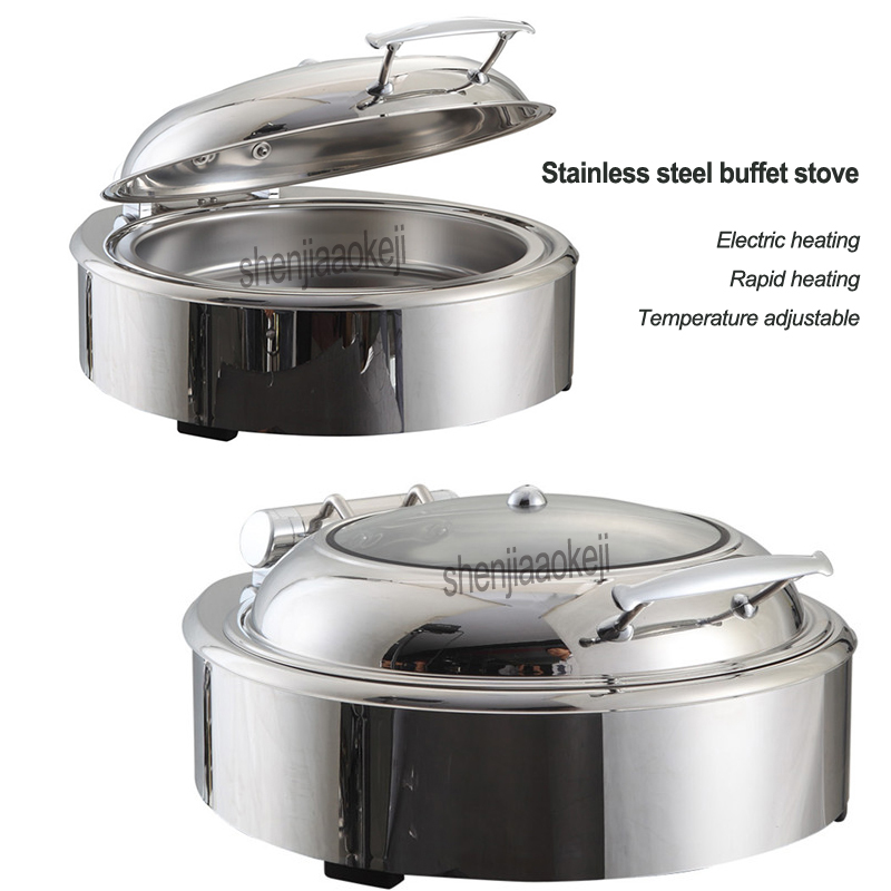 Stainless steel buffet stove 220v Electric heating hotel buffet tableware Temperature adjustable Restaurant insulation furnaceStainless steel buffet stove 220v Electric heating hotel buffet tableware Temperature adjustable Restaurant insulation furnace