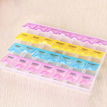 Joylife Weekly 7 Days Tablet Pill Drug Box Holder 4 Row 28 Squares Medicine Storage Organizer Container Case Dispenser(China)