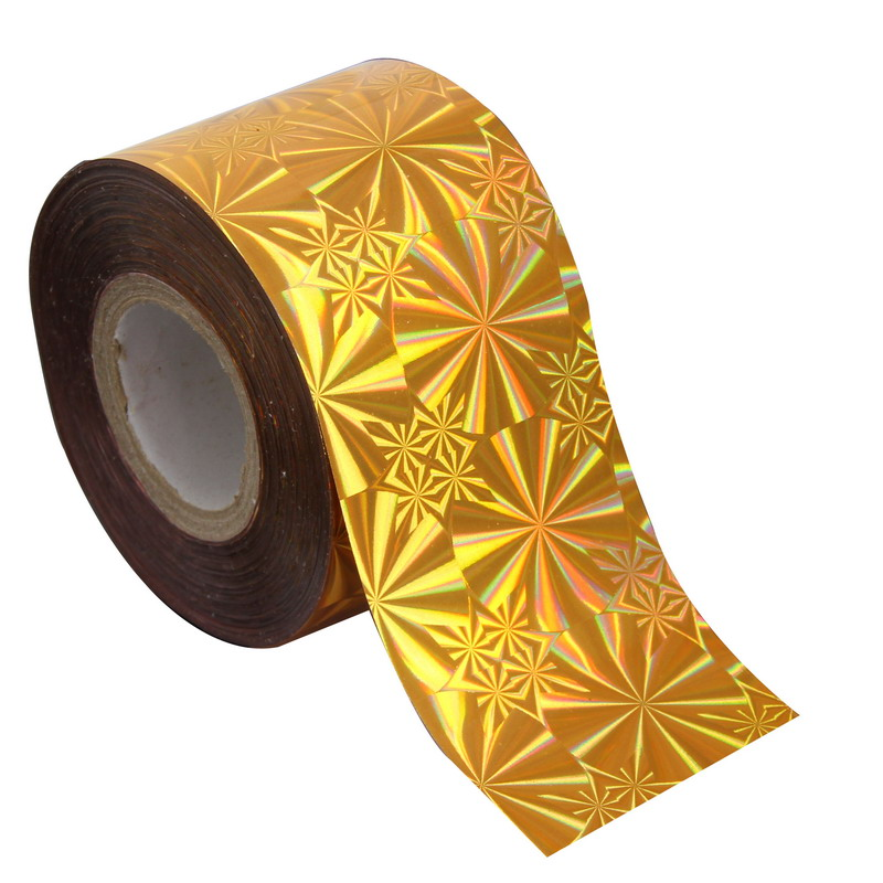 120m*4cm Gold Laser Snow Flake Nail Art Wraps Transfer Foil Nail Stickers Universe Decals Nail Tools Harajuku WY247