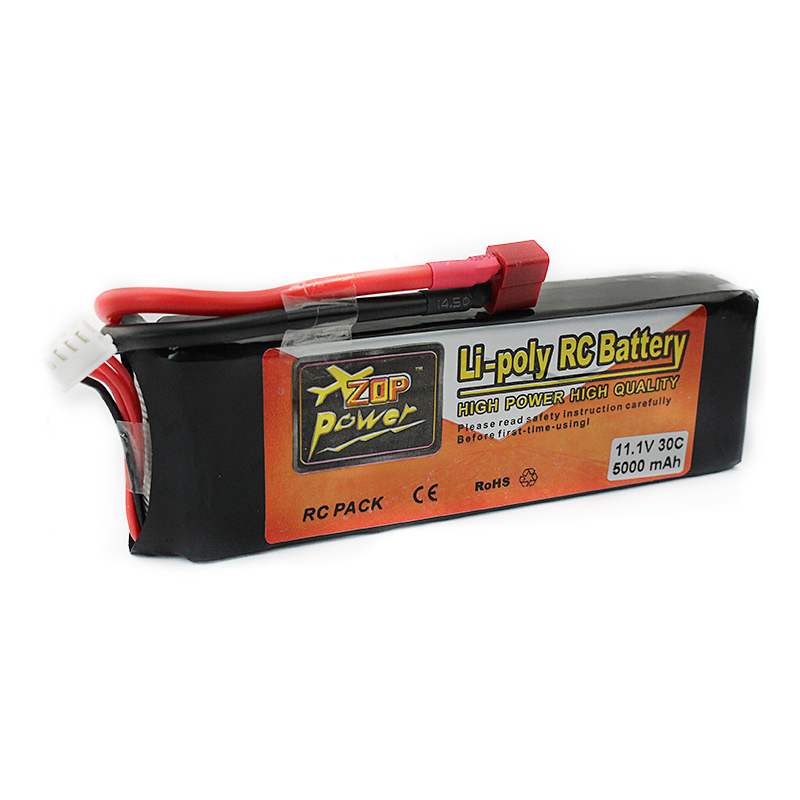 ФОТО Li-polymer Power Lipo Battery 11.1V 5000mAh 3S 30C T Plug For RC Helicopter Airplane Drone Parts Bateria