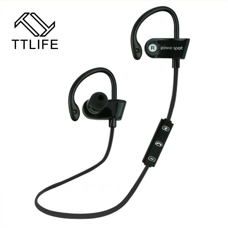 TTLIFE Ear Hook Bluetooth 4.1 Earphone Wireless Stereo Music Sport Bluetooth Headphone with Mic For Running Fitness Exercise ttlife original bluetooth v4 1 earphone wireless in ear stereo headset waterproof apt x sport headphone with mic for ios android