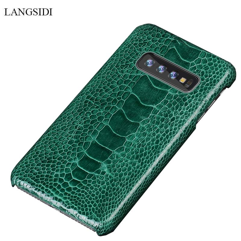 Luxury Natural Ostrich Leg Leather case For Samsung S10 Lite case back cover For Galaxy s10 plus case For S8 S9 Plus A50 A70 A30Luxury Natural Ostrich Leg Leather case For Samsung S10 Lite case back cover For Galaxy s10 plus case For S8 S9 Plus A50 A70 A30