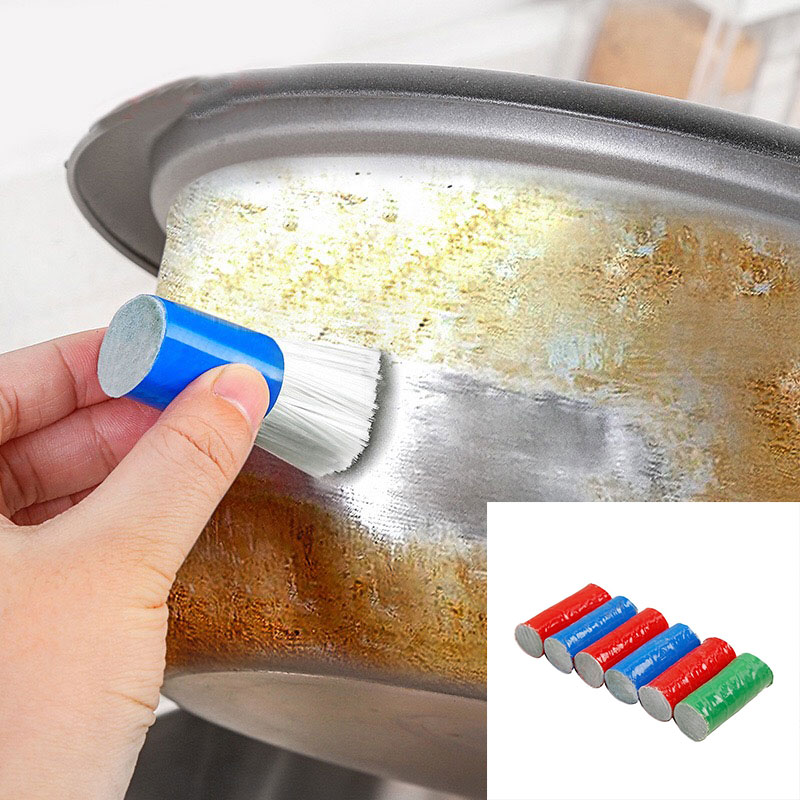 Paint Application 2pcs Magic Cleaning Brush Stainless Steel Metal Rust Remover Cleaning Detergent Sticks Magic Stick Kitchen Clean Tools Random