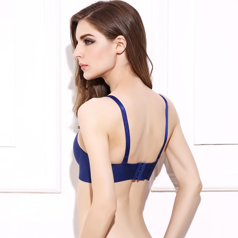0d7c43989 DeRuiLaDy Sexy Women Seamless LB Bra Gather Adjustable Super Push Up ...