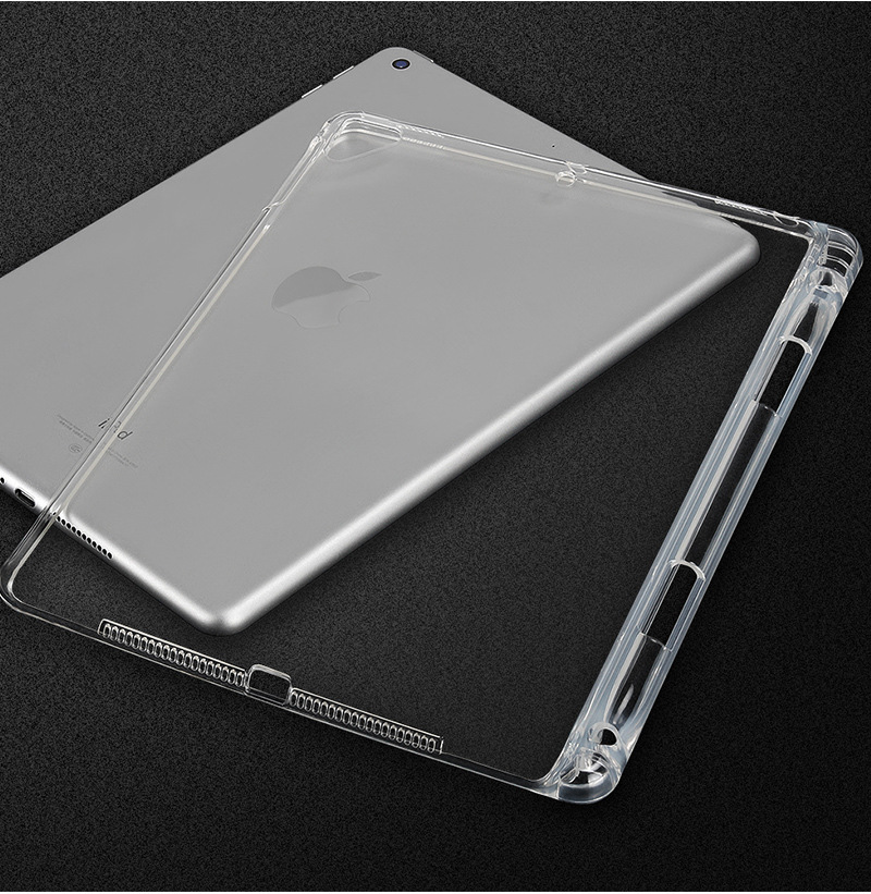 Tablet Case For New iPad Pro 12.9 Clear Crystal Transparent Soft TPU With Pen Holder Case For iPad Pro 12.9 inch 2018 Back Cover (9)