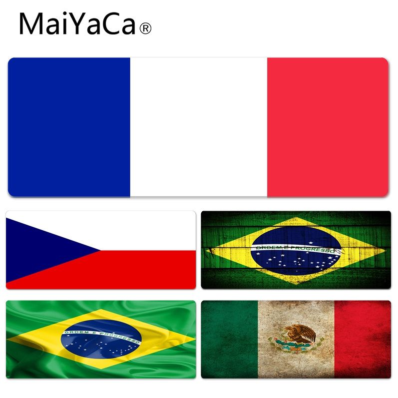MaiYaCa Vintage Cool Flags Wallpaper High Speed New Lockedge Mousepad Size for 30x70cm 30x90cm Rubber Rectangle Mousemats