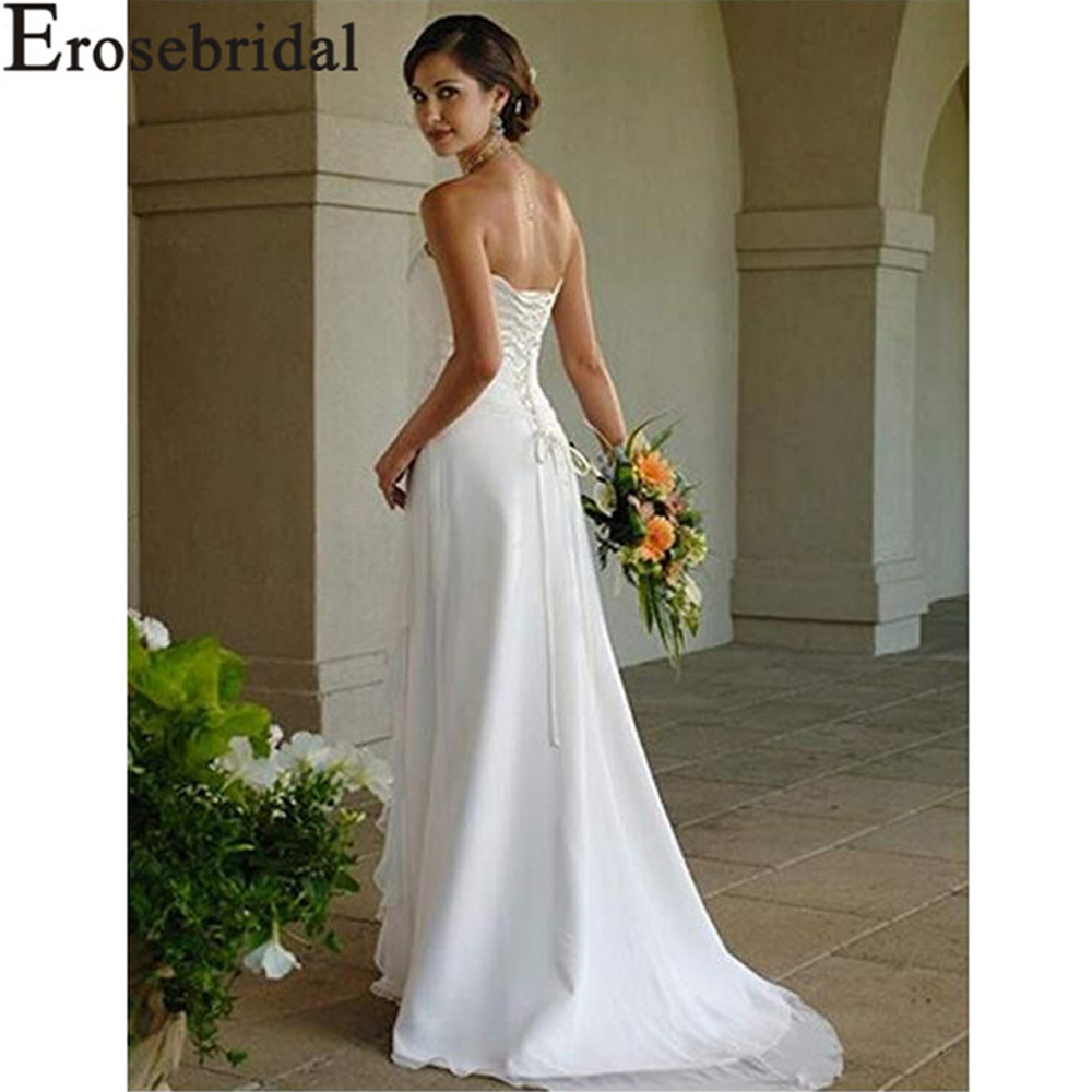 Erosebridal New Arrival Strapless Wedding Dresses 2019