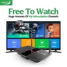 L'europe Arabe IPTV Box 1300 Canaux Android Smart TV Box 3 6 12 Mois QHDTV IPTV Abonnement Français Italie Arabe Top Box