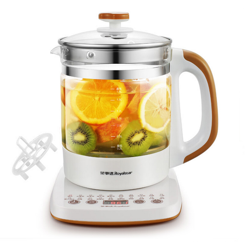 Authentic RONGSHIDA Health pot egg boiler 1.8L Thick glass electric kettle 304 stainless steel electric kettle health cup mini health pot full of glass electric hot office brew