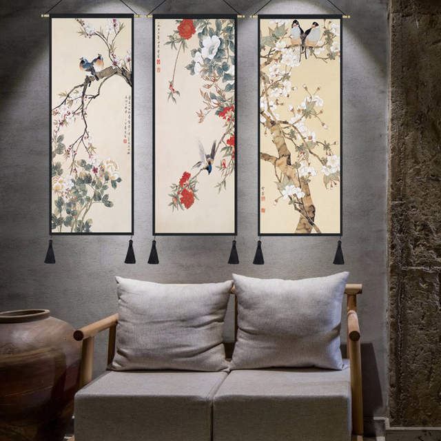 Online Shop Chinese Style Lucky Feng Shui Paintings Cloth Frame