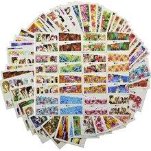 48pcs Nieuwe Gemengde Kleur Nail Sticker Sets Volledige Cover Wraps Bloem/Sexy Meisje Afbeelding voor Nail Art Water transfer Decals TR # A145 192