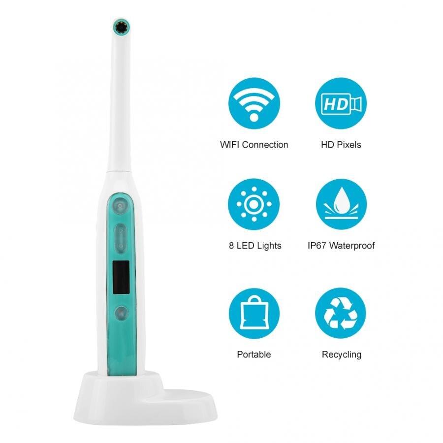 Nouvelle caméra dentaire sans fil WiFi Endoscope intra-oral HD avec caméra dentaire à 8 lumières Led