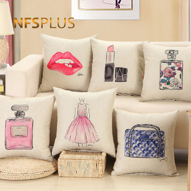 Aliexpress Buy Makeup Designs Sofa Cushions Cover Chair Extraordinary Designer Decorative Throw Pillows