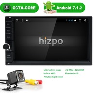 2din Android 7.1 Pure 8 Core GPS AutoRadio Car NO DVD Multimedia Player for Nissan xtrail Qashqai juke Head Unit Tape RecorderTV