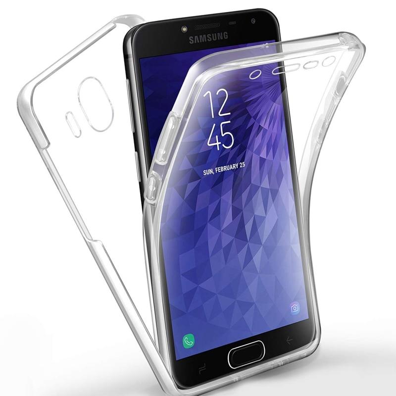 Case for Samsung Galaxy S8 S9 Plus S7 edge A6 A8 J2 Pro J8 J6 J4 A7 2018 A3 A5 2017 J3 J5 J7 NEO Soft TPU Clear 360 Degree Cover 360 degrees