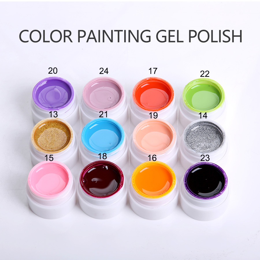Gel Nail Polish Sale: Hot Sale 36 Colors Painting Gel Nail Polish Set For Nail