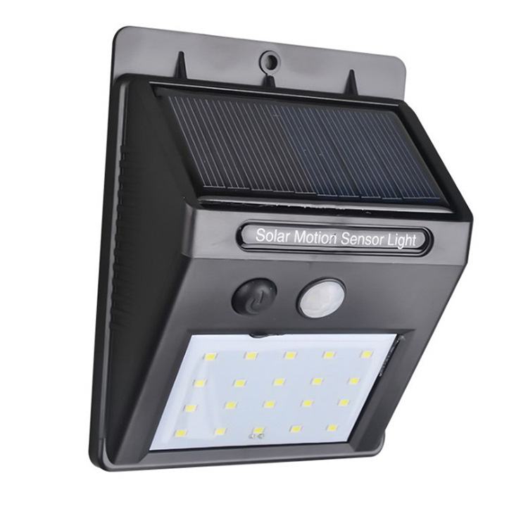 Obedient 20/30led Solar Charging Wall Lamp Human Body Induction Wall Lamp Outdoor Waterproof Garden Garden Lighting Street Light 100% Original Led Outdoor Wall Lamps