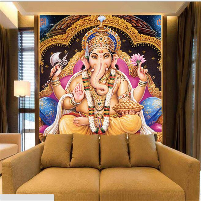 Beibehang Southeast Asian custom Indian religion large mural style yoga studio wallpaper god statue god wallpaper papel de pared beibehang southeast asian luxury non
