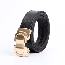 IMOAA Men's leather belt Automatic buckle belt First layer leather Casual automatic belt Single layer belt цена и фото