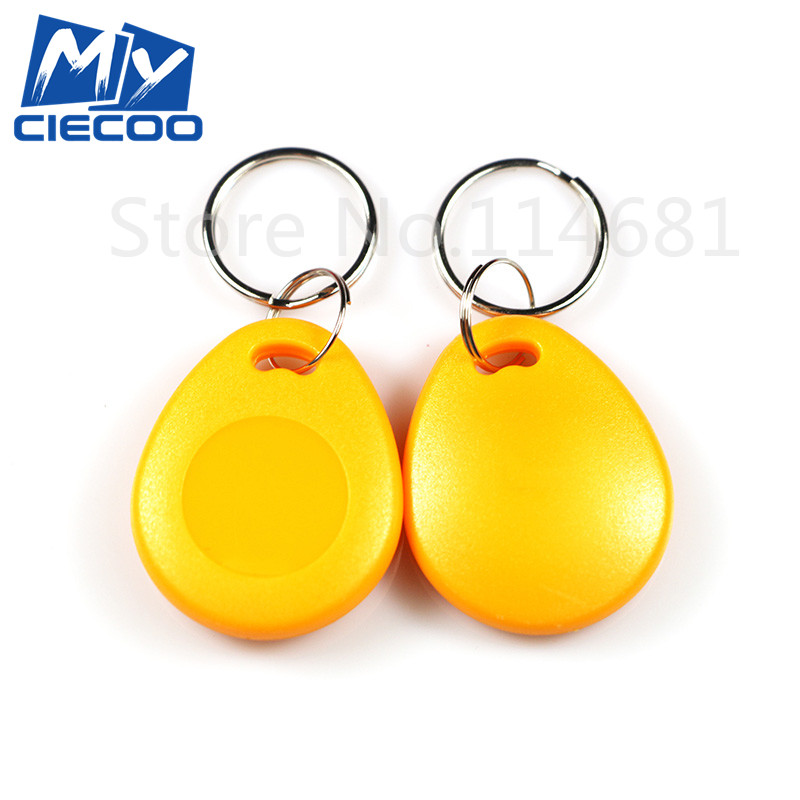 купить 125KHz  RFID Writable Keyfobs T5577 keychain rewritable readable and writable proximity key tags for access control дешево