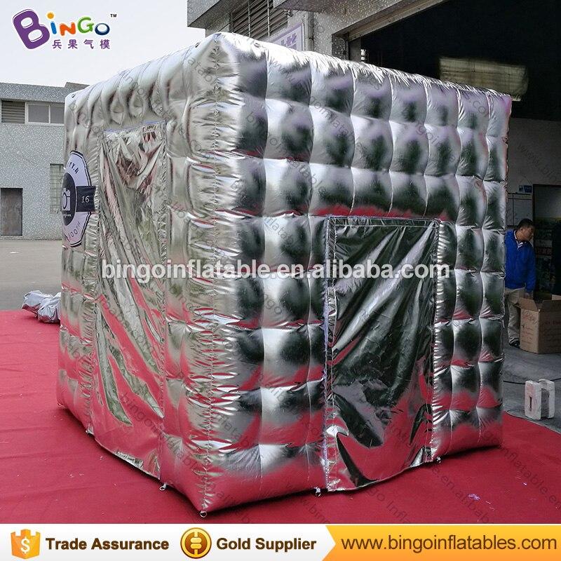 Venta de fábrica 2,4x2,4x2,4 m astilla inflable cabina de fotos kioscos tienda de fotografía por encargo anuncio usado ventas - 2