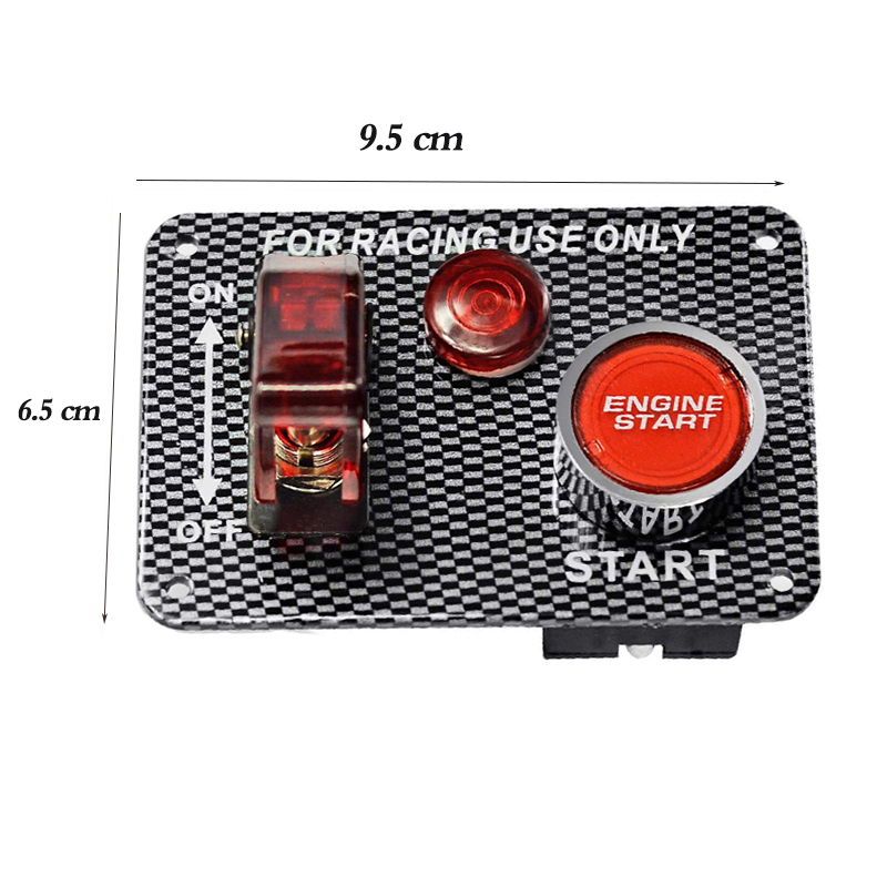 2in1 Comb Racing Car Toggle Ignition Switch Panel 12v