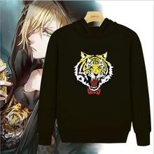 Anime YURI on ICE Yuri Plisetsky Tiger Hoodie jacket Sweater Cosplay Sweatshirt Tops free shipping