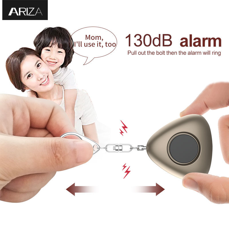 Ariza 130db personal alarm keychain portable emergency keychain alarm safety alarm with LED light for women/kids/elderly 36mm x 3 metric hss right hand tap m36 x 3 0mm pitch