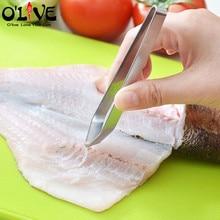 Щипцы для удаления рыбных костей из нержавеющей стали заколка для волос со Свинкой приспособление для удаления рыбных костей Пинцет Съемник щипцы для рыбы японские кухонные инструменты D5