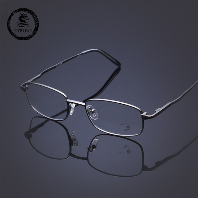 2016 novo b titanium full frame óculos de armação armações de óculos ultra light clássico negócio high end pode combinar as lentes