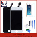 LCD For Iphone 5S lcd screen display and Touch Screen digitizer Assembly Black and white color+Tools+tempered protector