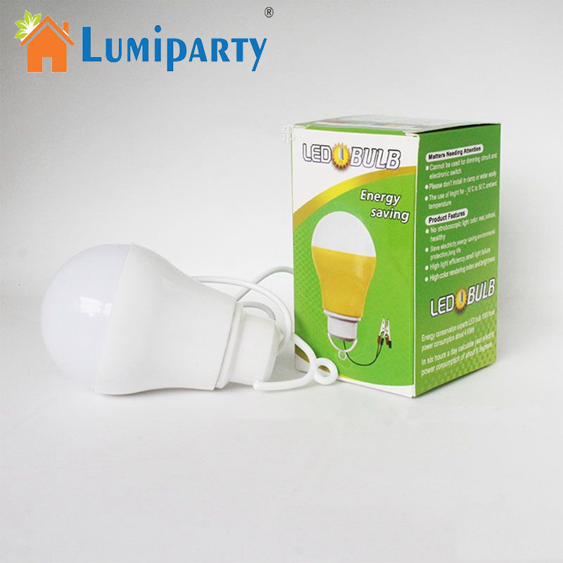 LumiParty LED Light Bulb USB Licht Draagbare Nachtlampje 5V DC 5W Werken Met Power Bank Notebook Camping Licht Color random