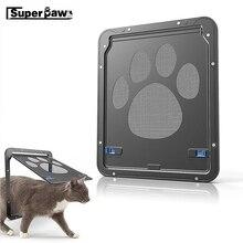 Multi-function Pet Magnetic Door Innovative Cat Dog Gauze Window Screen Doors For Cats Locking Pets Supplies LSD02