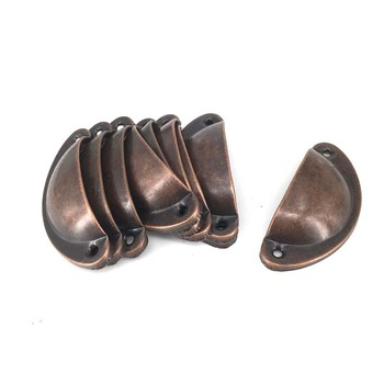 10PCS Kitchen Cupboard Door handle Medicine Cabinet Cup Drawer Furniture Antique Shell Pull Handle Knobs red Bronze