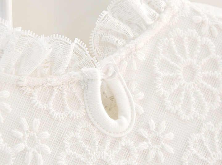 Baru Musim Gugur Bayi Gadis Kapas Renda Tutu Gaun Formal Putih Putri Naik Gaun Bayi Gadis Pakaian Lahir 3 M 6 M 1 T Hadiah
