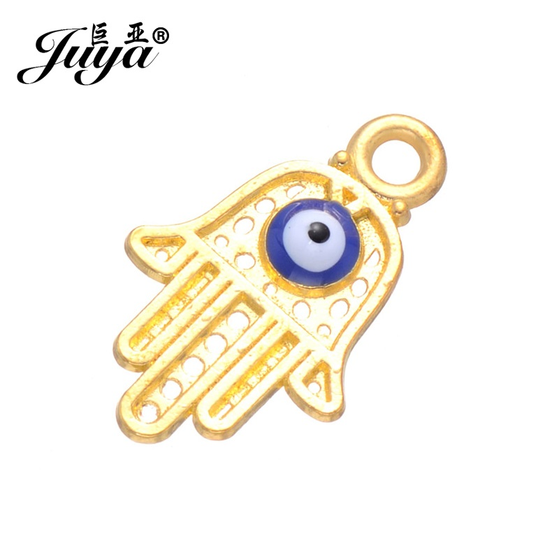 JUYA 15pcs/lot New Fashion Bergamot Eyes Jewelry Findings DIY Accessories for Bracelet Necklace Pendant Jewelry Making Supplies