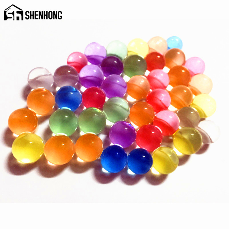 Details about  /10000X Pearl Shape Crystal Soil Mud Grow Water Beads Clear Magic Jelly Balls 14