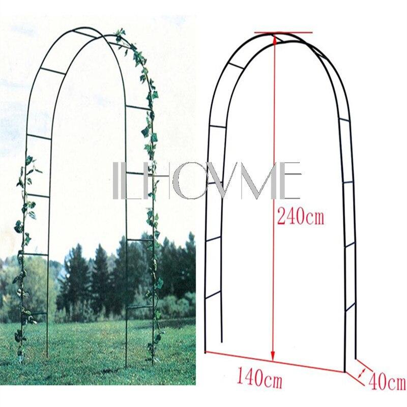 зеленый металлический фон - 240CM/94 High x 140CM/55 Width Wedding Decoration Metal Arch Pergola In White / Dark Green Backdrop Stand