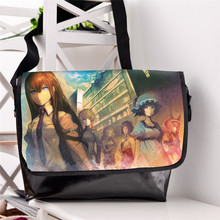 Steins Gate Cosplay Kurisu Makise Schoolbag Unisex Casual Shoulder Bag Messenger Crossbody Laptop Bags for Students