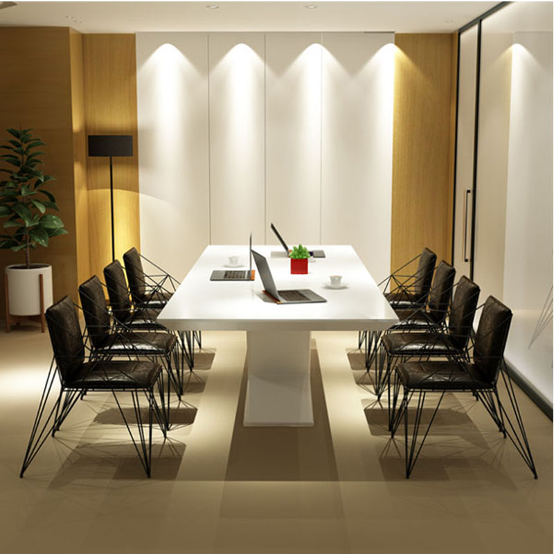 0428Z001 Creative simple modern personality furniture gloss piano paint office furniture conference desk meeting table