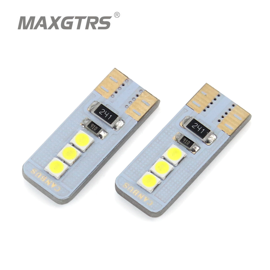 5x T10 194 168 W5W 3030 Chip Canbus Error Warning Free White LED Upgrade DRL Backup Reverse Map Dome Car Light Sourcing 12V